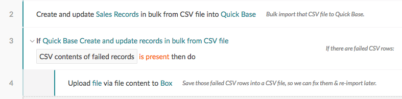 Handling failed CSV rows