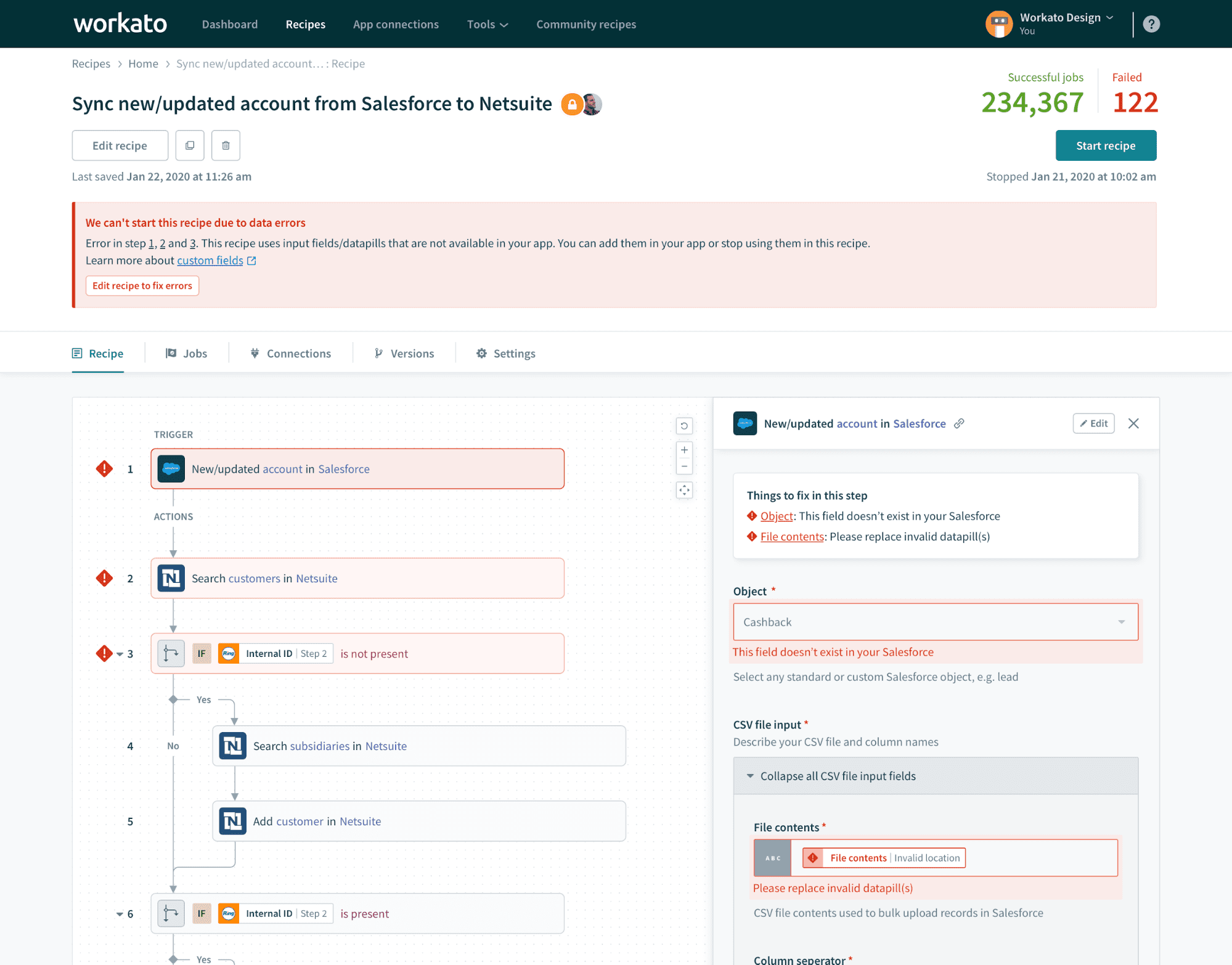 Salesforce trigger is changed from New/updated object to New object