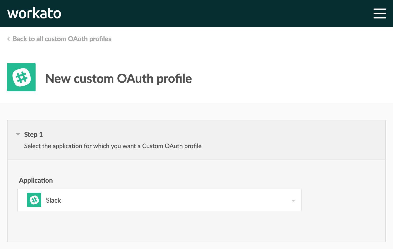 Slack custom OAuth profile