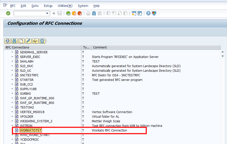 RFC connections